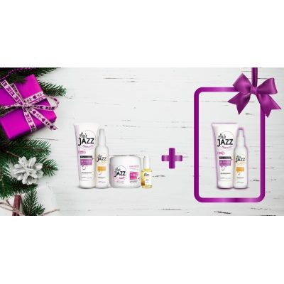 Joulumyynti! HAIR JAZZ shampoo + lotion +mask + serum+ LAHJA(shampoo + lotion)