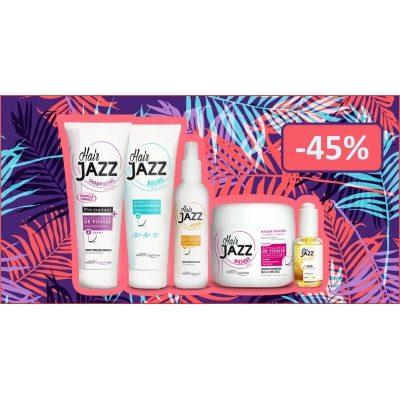 Kesäale! HAIR JAZZ  shampoo + hoitoaine+ lotion +mask+ serum
