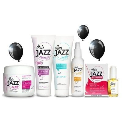 BLACK FRIDAY! HAIR JAZZ shampoo +  hoitoaine+ lotion +mask +vitamiinivalmiste + serum