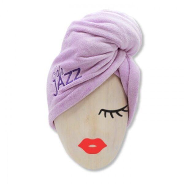 HAIR JAZZ Turbaanipyyhe- nopea, helppo ja hellä tapa kuivata hiukset!