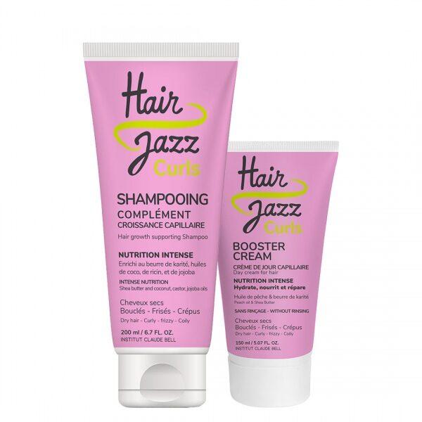 HAIR JAZZ KIHARAT-shampoo ja -tehostevoide hiuksille