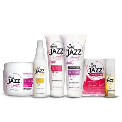 HAIR JAZZ shampoo +  hoitoaine+ lotion +mask +vitamiinivalmiste + serum